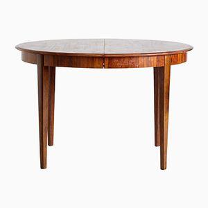 Mesa de comedor extensible vintage de palisandro, años 60