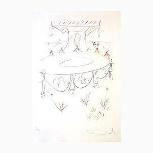 Incisione Lancelot Comrade of the Round Table di Salvador Dali, 1975