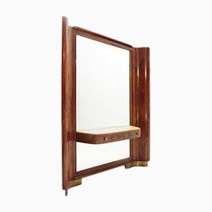 Consolle vintage con specchio, anni '40
