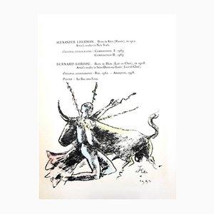 Litografia di Morlot di Jean Cocteau, 1964
