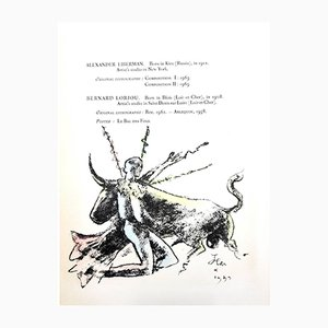 Morlot Lithografie von Jean Cocteau, 1964