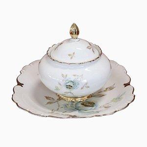 Zuppiera e piatto in porcellana di Johann Seltmann Bavaria, anni '40