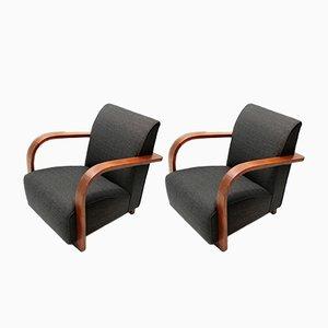 Moderne italienische Sessel, 1940er, 2er Set