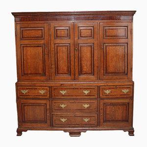 18th-Century Oak Housekeeper's Cupboard