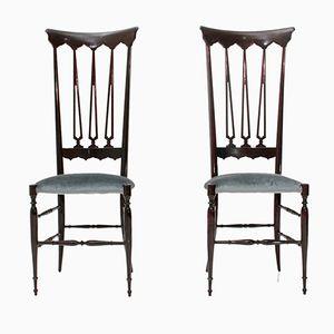 Italienische Mid-Century Chiavari Stühle von Chiappe Guido, 1950er, 2er Set