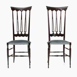Mid-Century Italian Chiavari Chairs by Chiappe Guido, 1950s, Set of 2