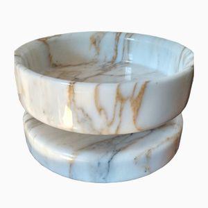 Scodella vintage in marmo di Angelo Mangiarotti per Knoll