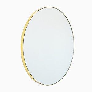 Runder extra großer versilberter Orbis Spiegel im Messingrahmen von Alguacil & Perkoff