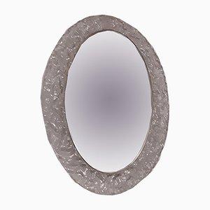Espejo número 8161/ 041 oval iluminado de Hustadt Leuchten, años 70