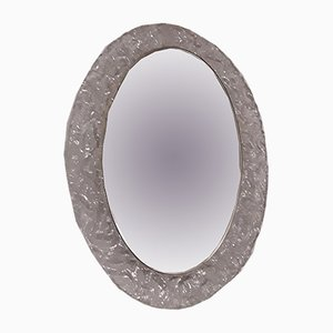 Number 8161/ 041 Oval Illuminated Mirror from Hustadt Leuchten, 1970s