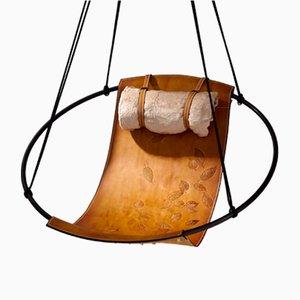 Sling Liegesessel with mit aufgeprägten Blättern von Studio Stirling