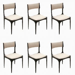 Vintage Black & Grey Dining Chairs by Giuseppe Gibelli for Sormani, 1950s, Set of 6