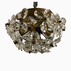 Vintage Crystal & Murano Flower Flush Mount