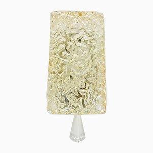 Wandlampe aus Kristallglas in Eisblock-Optik von Limburg, 1960er
