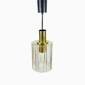 Mid-Century Deckenlampe aus Glas von Limburg, 1960er