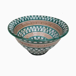 Vintage French Ceramic Salad Bowl by Robert Picault