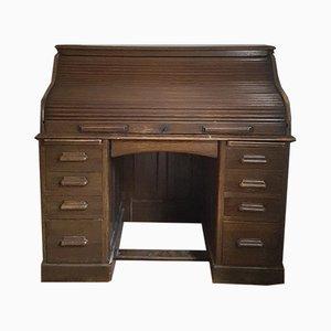 Vintage Schreibtisch aus Eiche mit ausfahrbarer Platte von Lebus