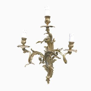 Vintage Bronze Wall Sconce, 1940s