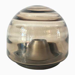 Lampada da soffitto vintage in vetro di RZB, anni '70
