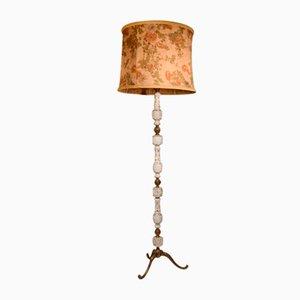 Vintage Italian Polished Floor Lamp, 1950s