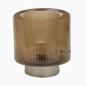Vintage B-1264 Tischlampe aus Rauchglas von Raak, 1968