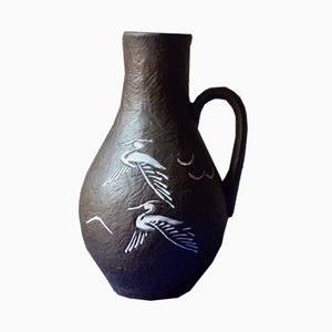 Vintage Vase mit Vogelmotiv