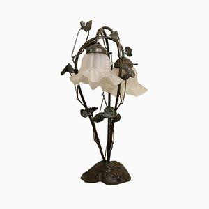 Lampe de Bureau Vintage en Bronze, 1950s