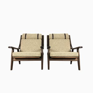 GE 530 Lounge Chairs by Hans J. Wegner for Getama, 1970s, Set of 2