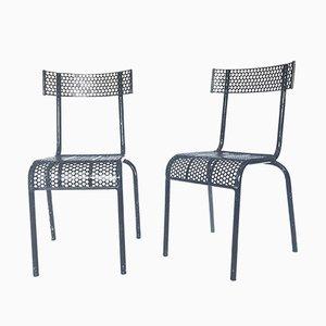 Französische Vintage Stühle, 1940er, 2er Set