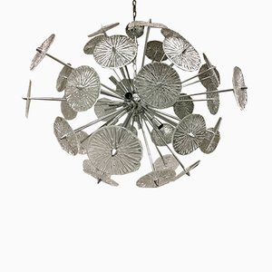 Lampadario Triedo Sputnik in vetro di Murano di Italian light design