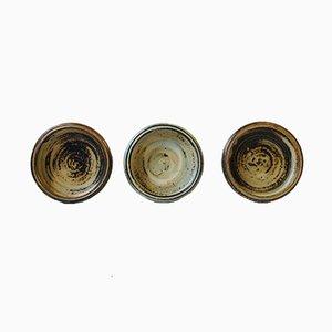 Cuencos o ceniceros de gres de Carl Halier para Royal Copenhagen, años 50. Juego de 3