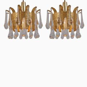 Lámparas colgantes vintage de Ernst Palme para Palwa, años 60. Juego de 2