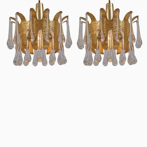 Vintage Hängelampen von Ernst Palme für Palwa, 1960er, 2er Set