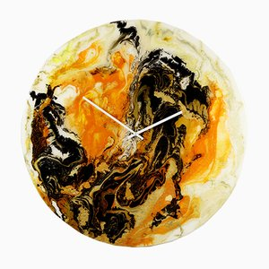 Très Grande Horloge Moderne en Verre avec Éclairage par Craig Anthony pour Reformations, 2019