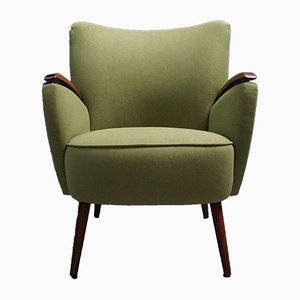 Mid-Century Green Shell Chair, 1960s
