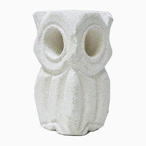 Vintage Stone Owl Lamp by Albert Tormos