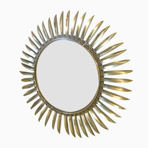 Vintage Brass Sun Mirror from Deknudt