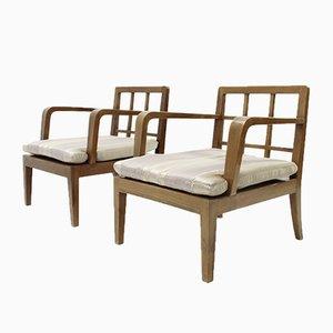 Moderne italienische Mid-Century Armlehnstühle, 1940er, 2er Set