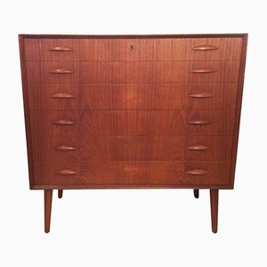 Mid-Century Danish Teak Chest of Drawers by Kai Kristiansen, 1960s