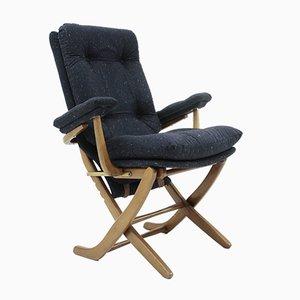 Butaca reclinable italiana Mid-Century, años 50