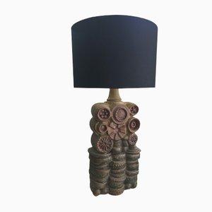 Grande Lampe Brutaliste en Poterie par Bernard Rooke, 1960s