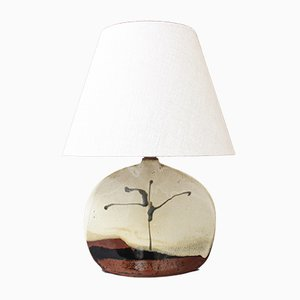 Ceramic Table Lamp by Colette Houtmann for Lune Vague, 1980s