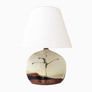 Lampada da tavolo in ceramica di Colette Houtmann per Lune Vague, anni '80