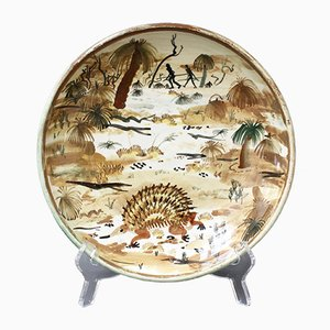 Ceramic Decorative Plate of Australian Bush by Neil Douglas for Arthur Merric Boyd Pottery, 1950s