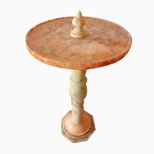 Mesa de centro italiana vintage de alabastro, años 30