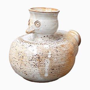 Vase Oiseau en Céramique Émaillée par Dominique Pouchain, 1980s