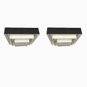Moderne Ziggurat Deckenlampen von Raak, 1960er, 2er Set