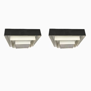 Modernist Ziggurat Ceiling Lamps from Raak, 1960s, Set of 2