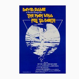 Poster del film L'uomo che cadde sulla Terra con David Bowie di Vic Fair, Regno Unito, 1976