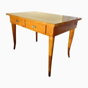 Italienischer Vintage Schreibtisch aus Kirschholz & Resopal